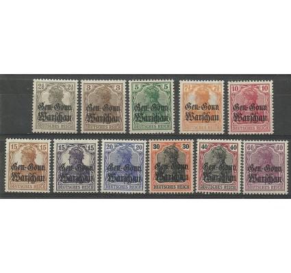 Znaczek Deutsches Reich / III Rzesza 1916 Mi 6-16Warszawa Czyste **
