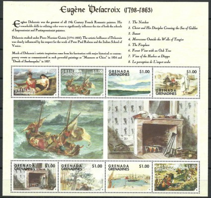 Znaczek Grenada i Grenadyny 1998 Mi ark 2781-2788 Czyste **