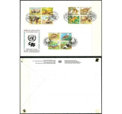 Znaczek Narody Zjednoczone Nowy Jork 1995 Mi 681-4+UNG263-6+UNV180-3 FDC