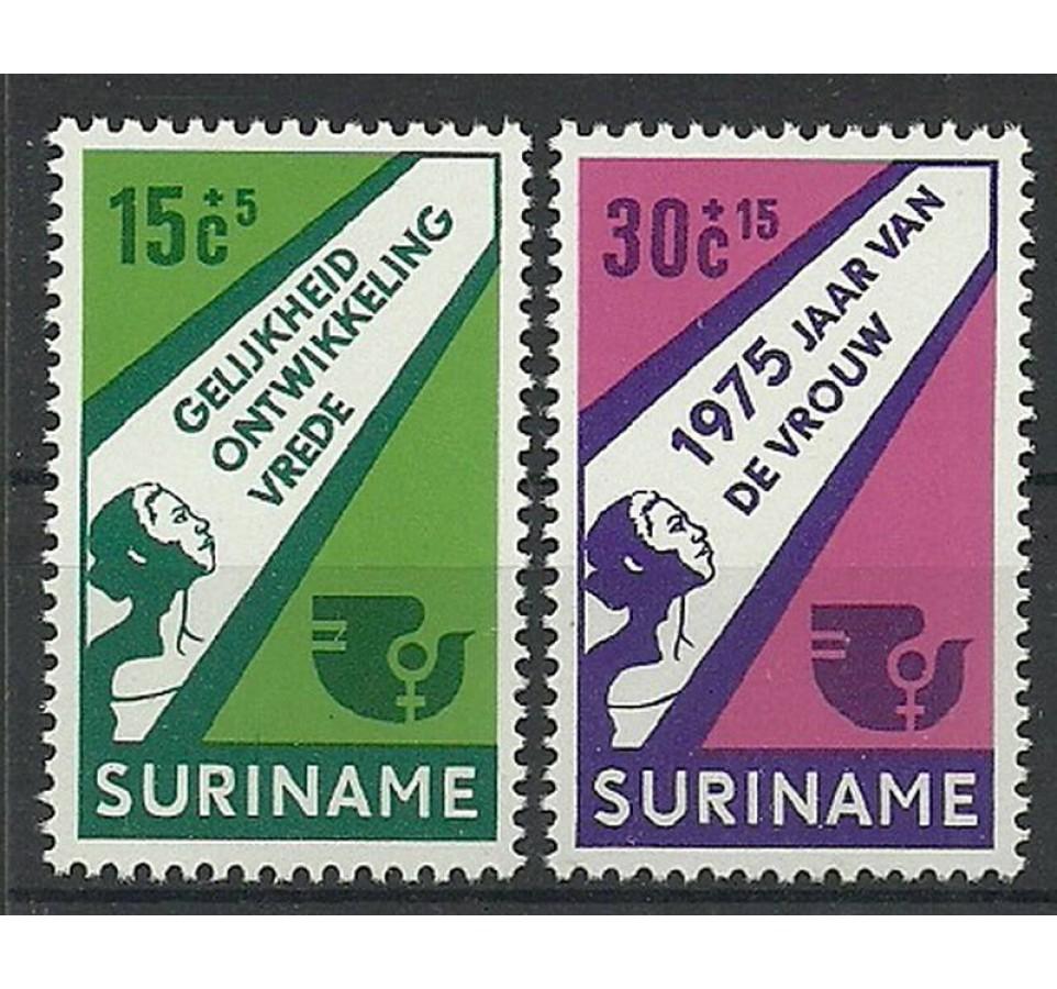 Surinam 1975 Mi 693-694 Czyste **