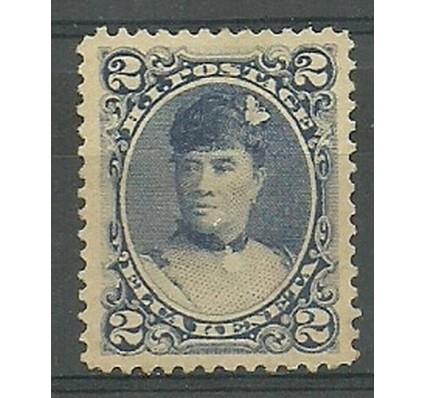 Znaczek Hawaje 1891 Mi 36 Z podlepką *