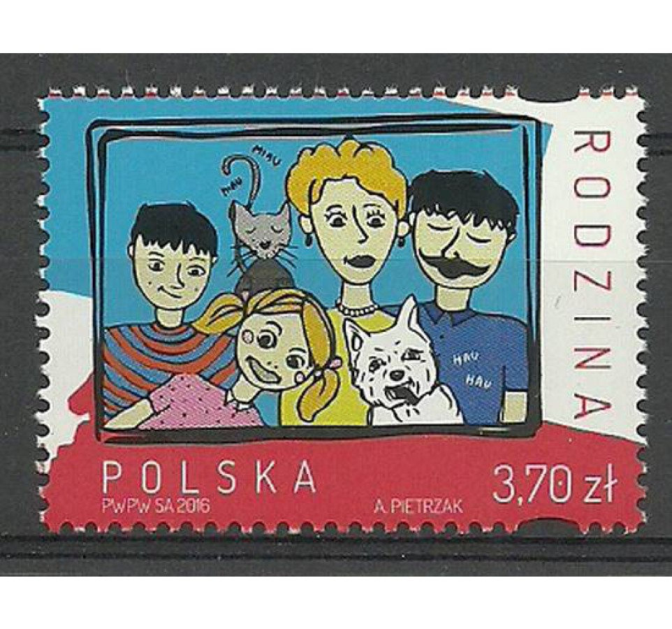 Polska 2016 Mi 4838 Fi 4688 Czyste **