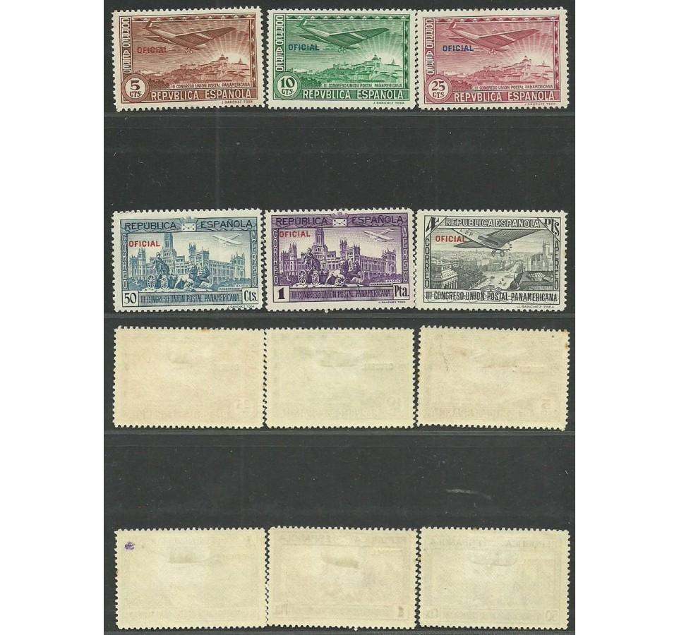 Hiszpania 1931 Mi die 30-35a,b Z podlepką *