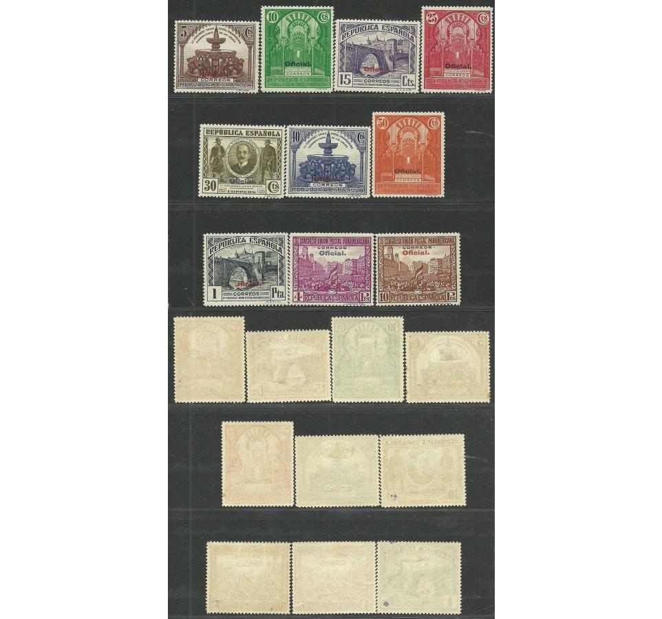 Hiszpania 1931 Mi die 20-29a,b Z podlepką *