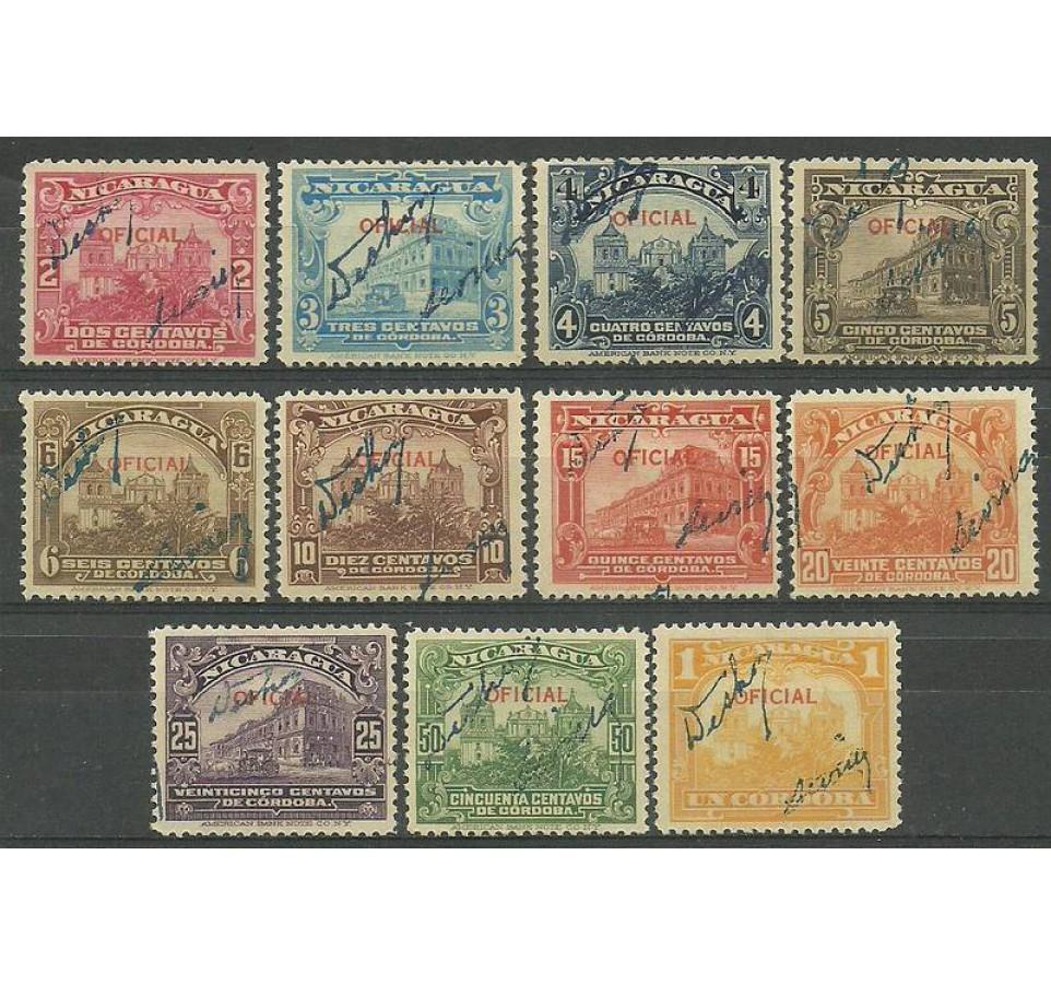Nikaragua 1933 Mi 641-651 Czyste **