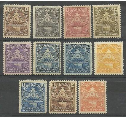 Znaczek Nikaragua 1898 Mi 98-108x Z podlepką *