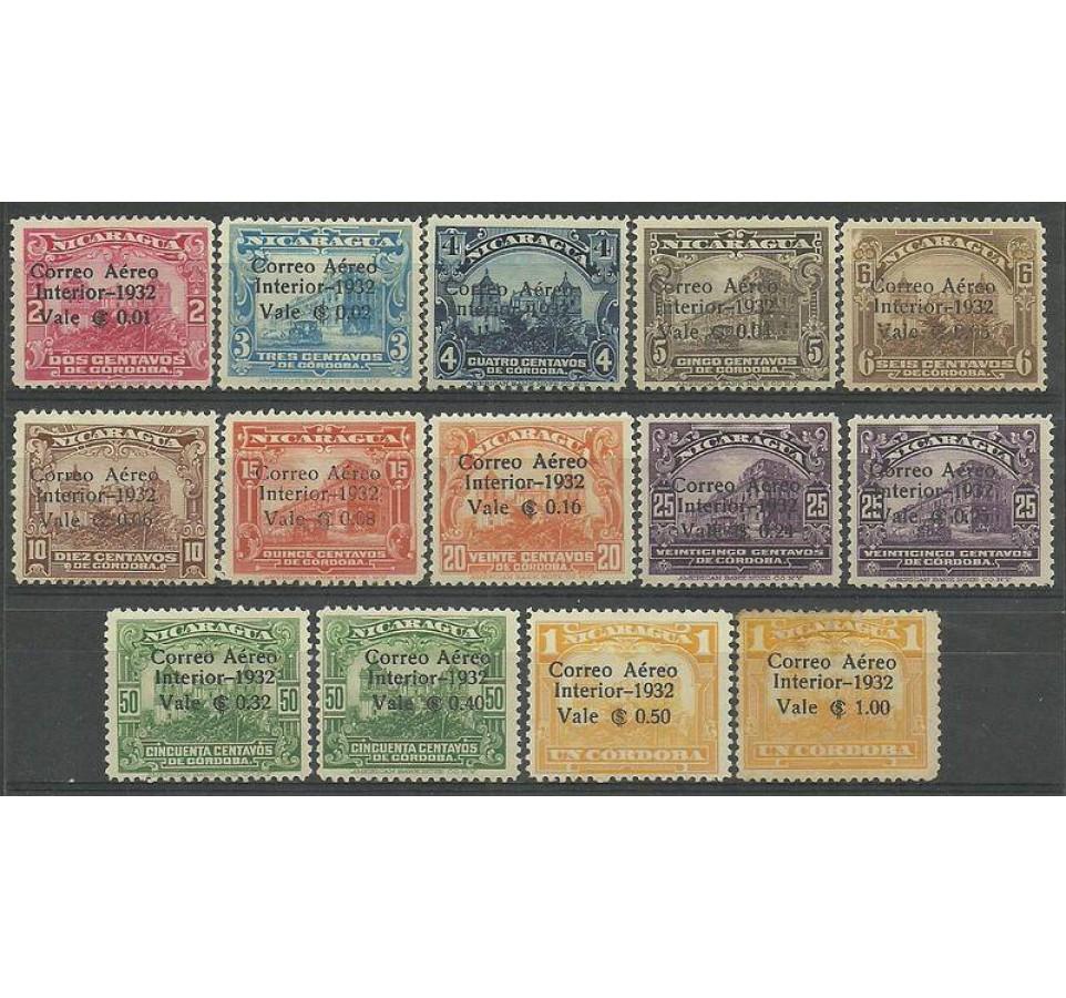 Nikaragua 1932 Mi 579-589 Z podlepką *