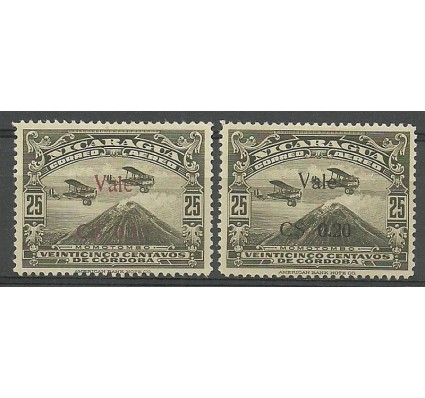 Znaczek Nikaragua 1930 Mi 493-494 Z podlepką *