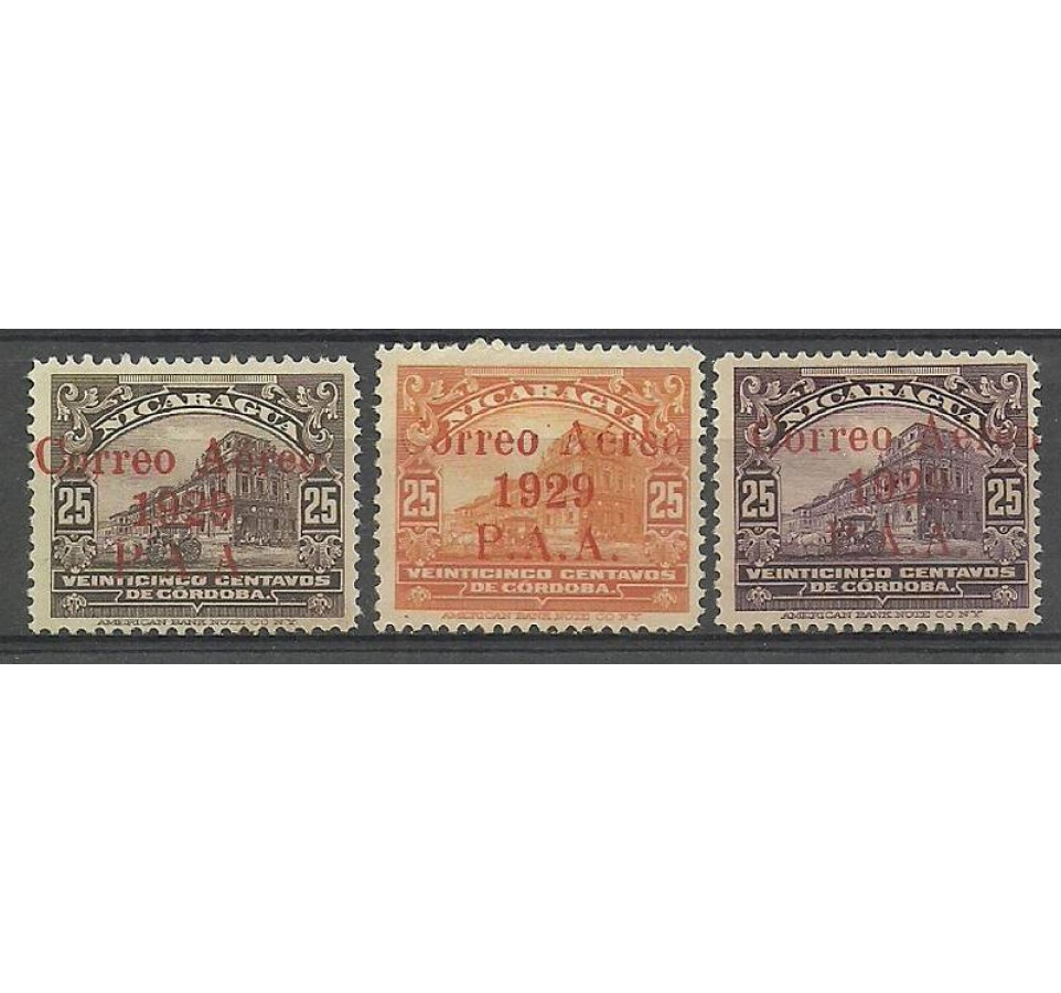 Nikaragua 1929 Mi 483-485 Z podlepką *