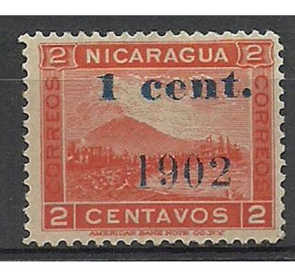 Znaczek Nikaragua 1902 Mi IV Z podlepką *