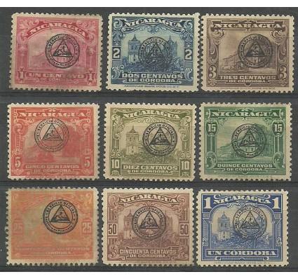 Znaczek Nikaragua 1937 Mi die 348-356 Z podlepką *