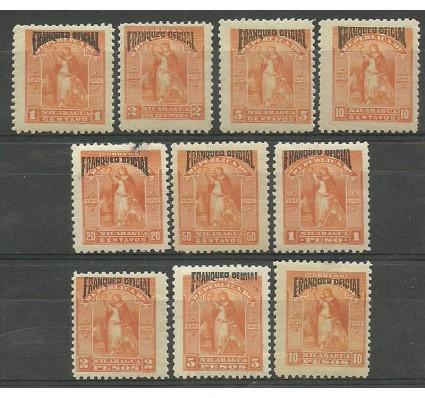 Nikaragua 1894 Mi die 42-51 Z podlepką *