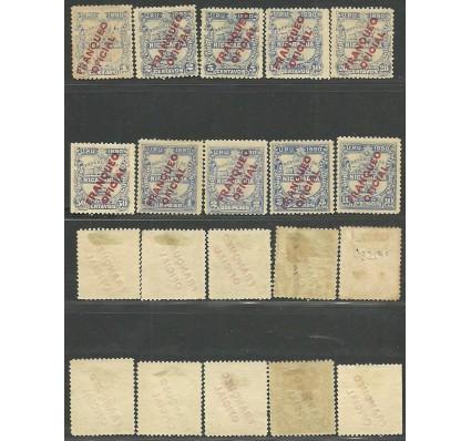 Znaczek Nikaragua 1890 Mi die 1-10 Z podlepką *