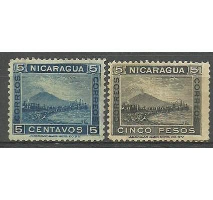 Znaczek Nikaragua 1900 Mi 124+132 Z podlepką *