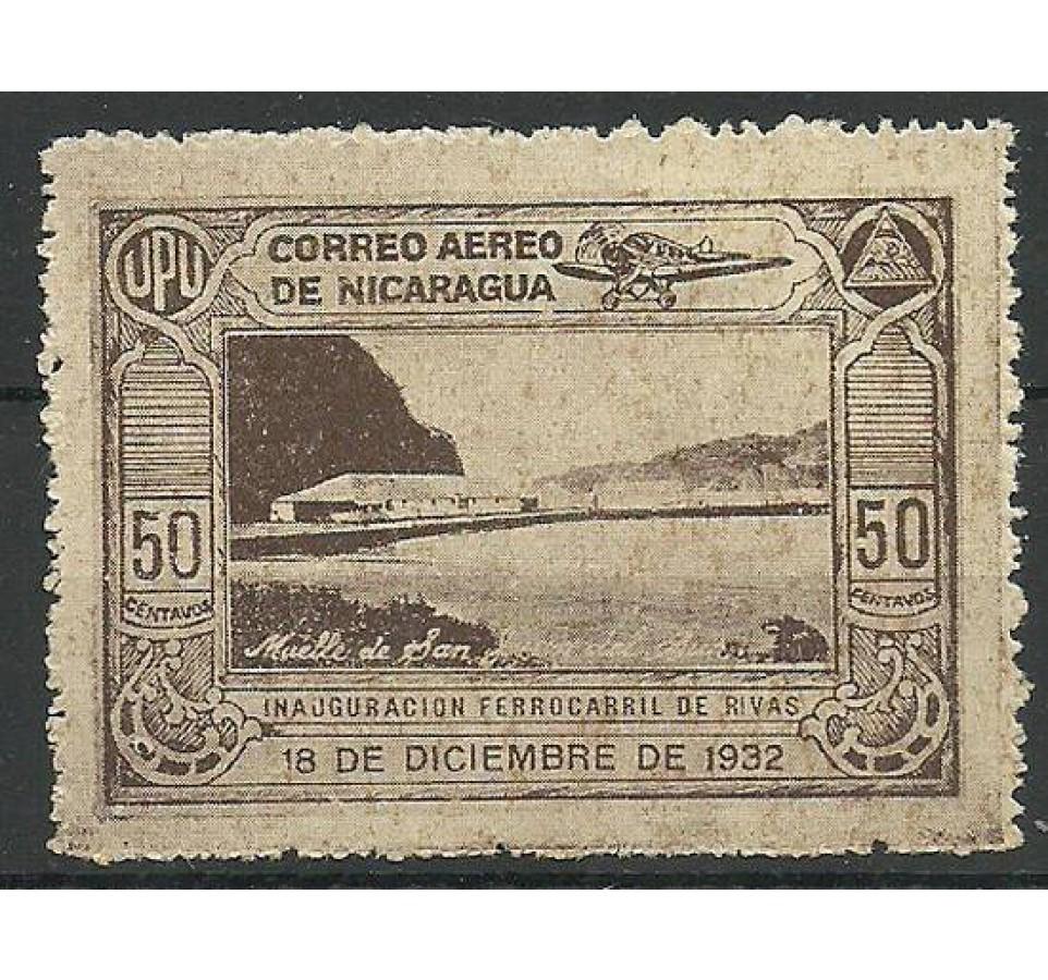 Nikaragua 1932 Mi 598 Z podlepką *