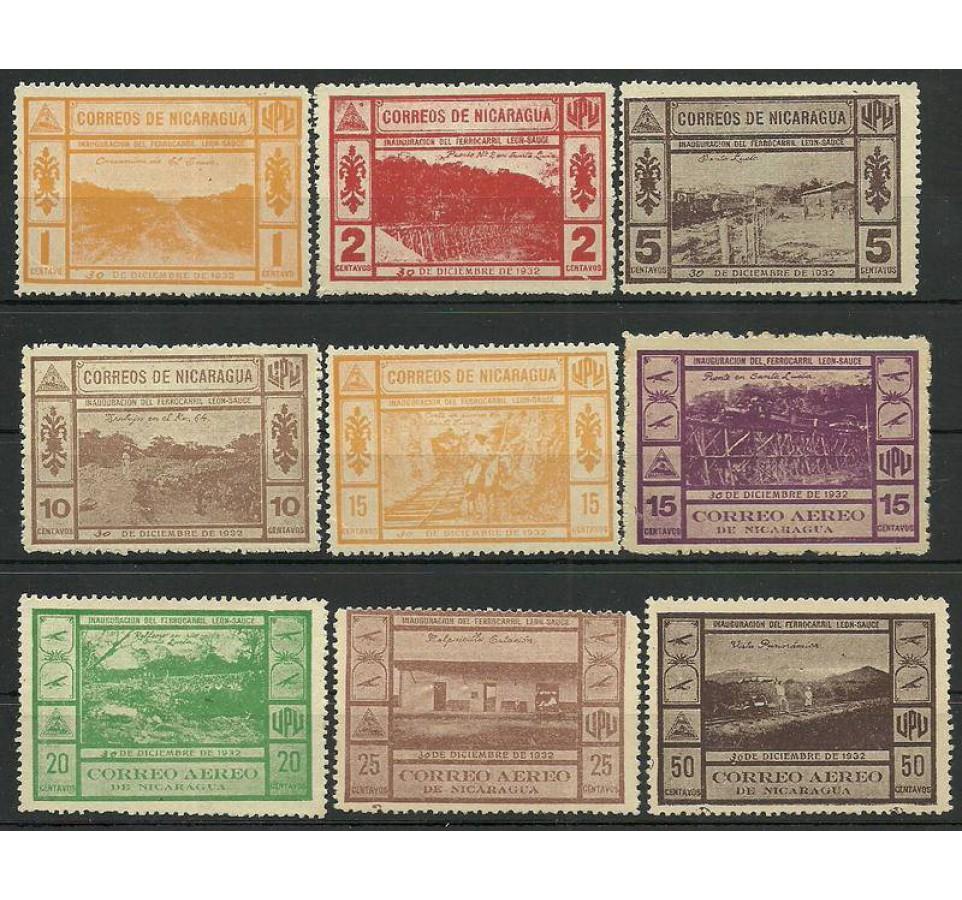 Nikaragua 1932 Mi 600-609 Z podlepką *