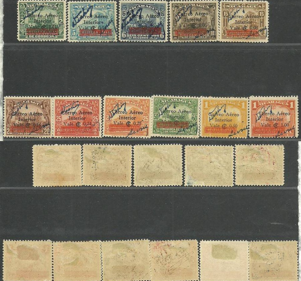Nikaragua 1936 Mi 704+707-713+715-717 Z podlepką *