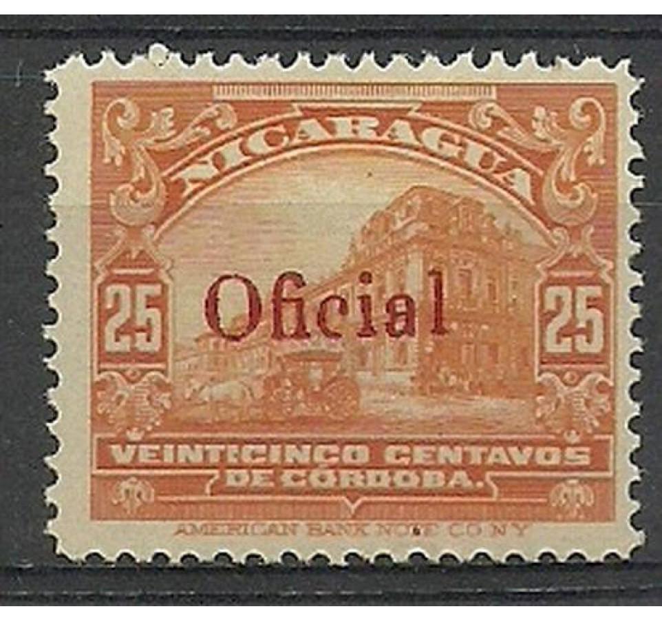 Nikaragua 1925 Mi die 252 Z podlepką *