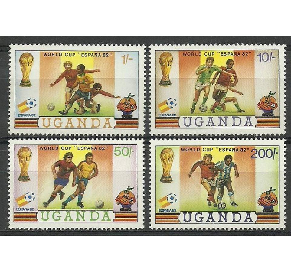 Uganda 1981 Mi 310-313 Czyste **