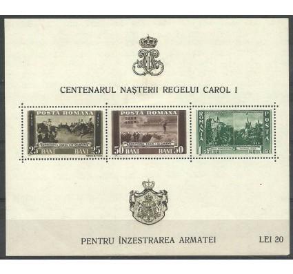 Znaczek Rumunia 1939 Mi bl 4 Z podlepką *