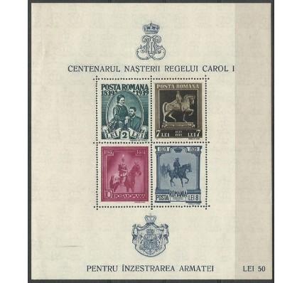 Znaczek Rumunia 1939 Mi bl 6 Z podlepką *