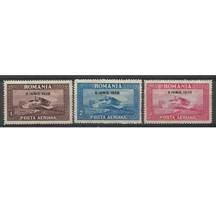 Znaczek Rumunia 1930 Mi 372-374y Z podlepką *