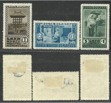 Znaczek Rumunia 1934 Mi 465-467 Z podlepką *