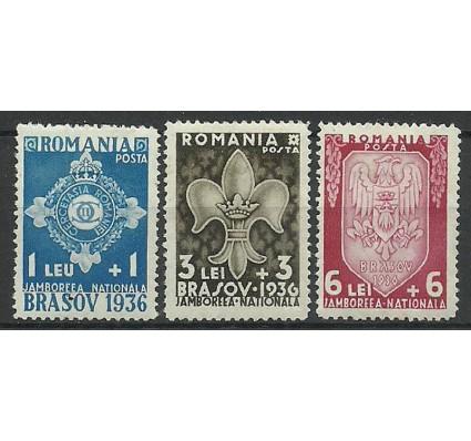 Znaczek Rumunia 1936 Mi 516-518 Z podlepką *