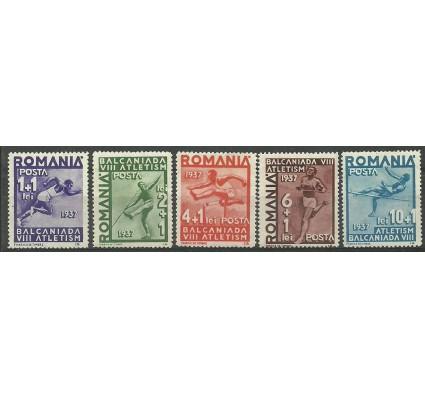 Znaczek Rumunia 1937 Mi 538-542 Z podlepką *
