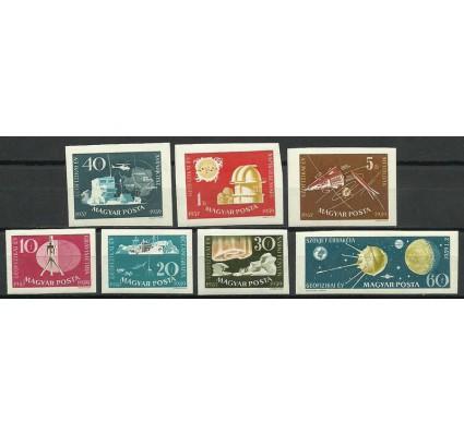 Znaczek Węgry 1959 Mi 1571-1577B Z podlepką *