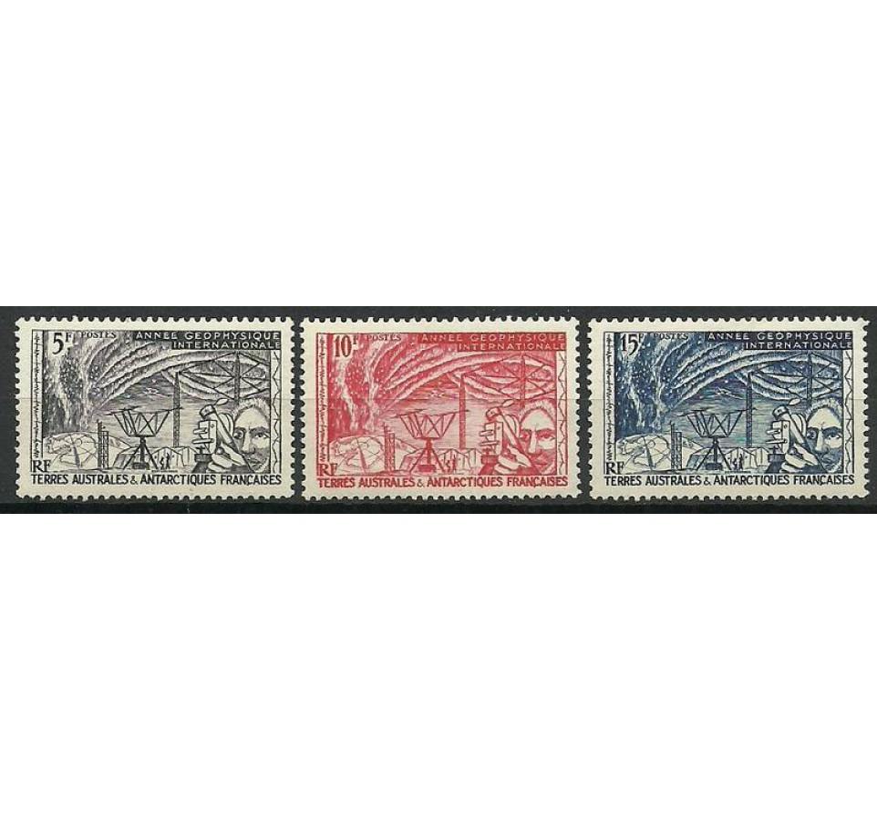 TAAF 1957 Mi 10-12 Czyste **