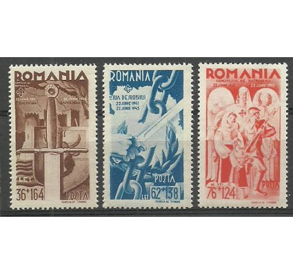 Znaczek Rumunia 1943 Mi 760-762 Czyste **