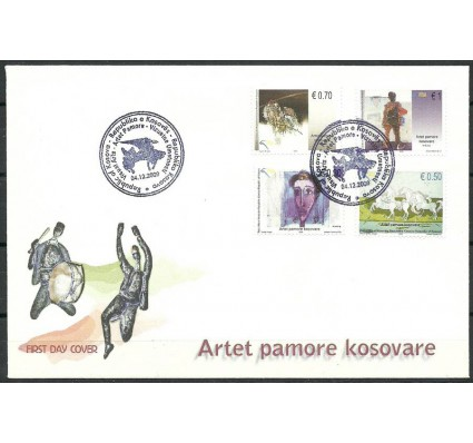 Znaczek Kosowo 2009 Mi 143-146 FDC