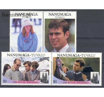 Znaczek Tuvalu 1986 Mi par88-91 Czyste **