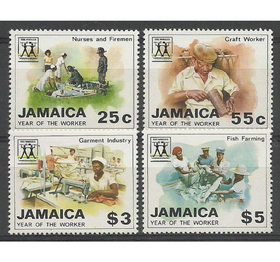 Jamajka 1988 Mi 714-717 Czyste **