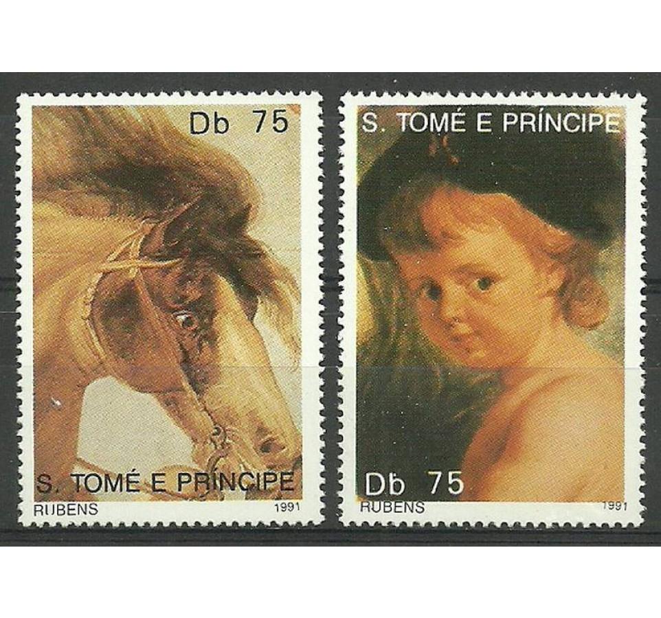 Wyspy Św. Tomasza i Książęca 1991 Mi 1254-1255 Czyste **