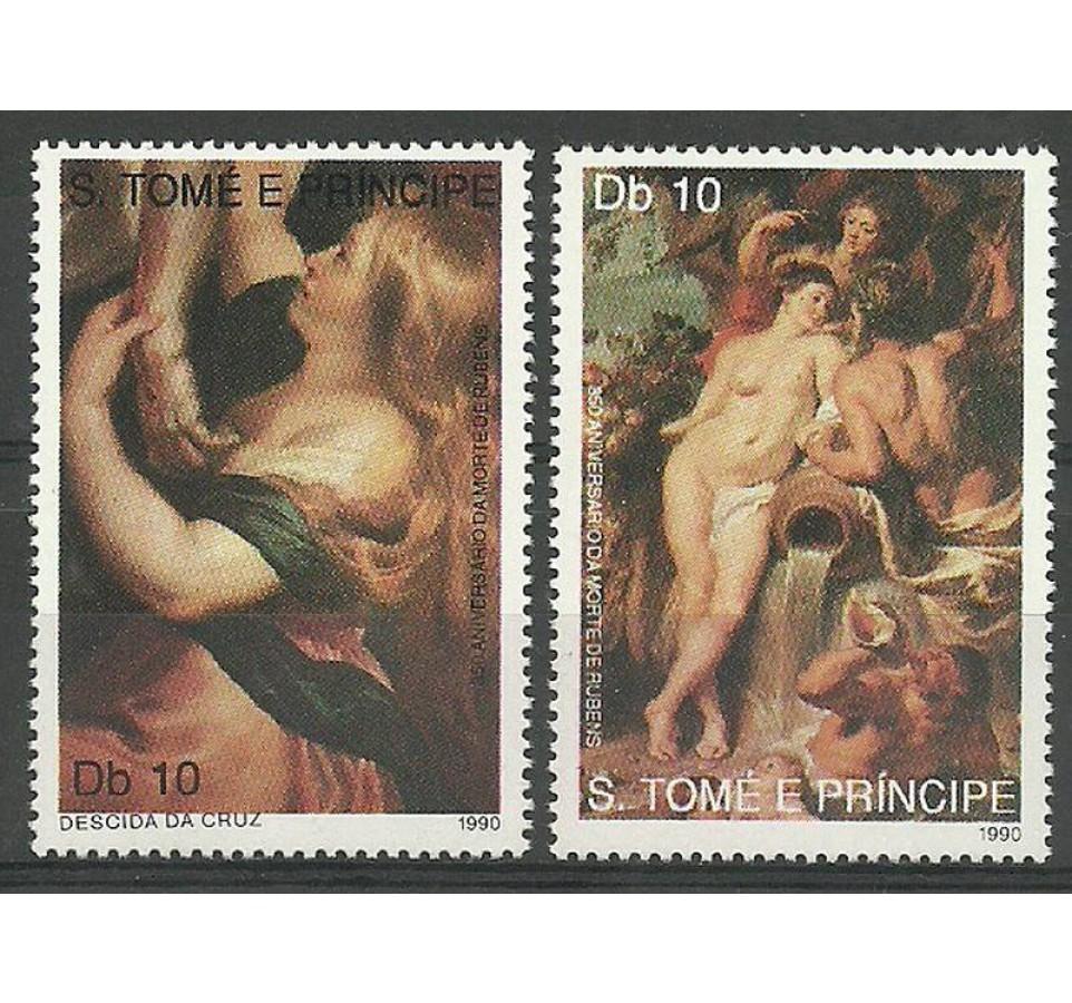 Wyspy Św. Tomasza i Książęca 1990 Mi 1214-1215 Czyste **