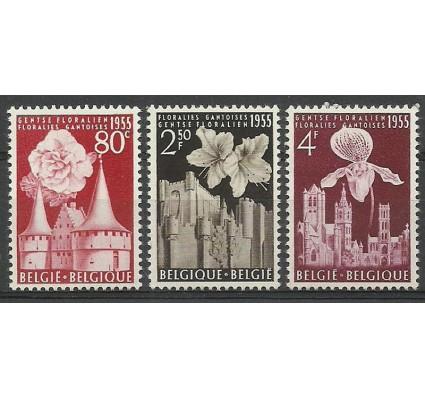 Znaczek Belgia 1955 Mi 1010-1012 Z podlepką *