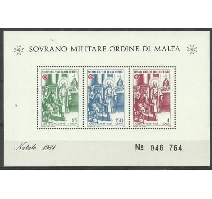 Znaczek Zakon Maltański 1981 Mi bl 14 Czyste **
