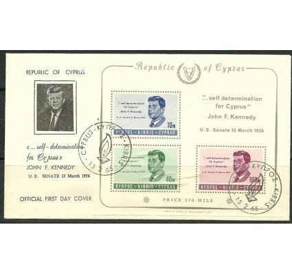 Znaczek Cypr 1965 Mi bl 3 FDC