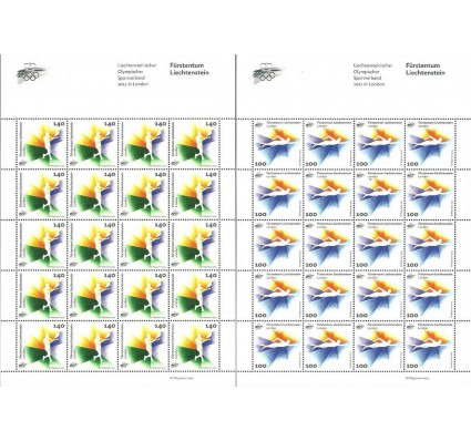 Znaczek Liechtenstein 2012 Mi ark 1629-1630 Czyste **