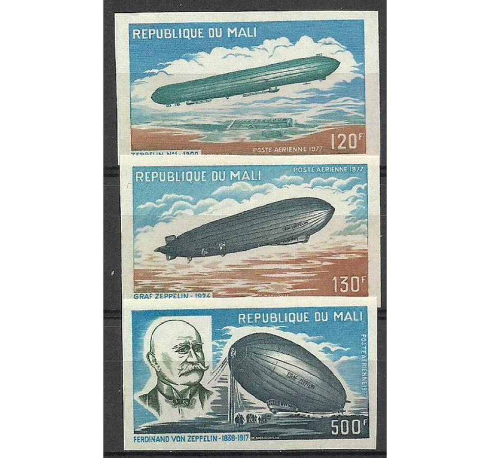 Mali 1977 Mi 586-589B Czyste **