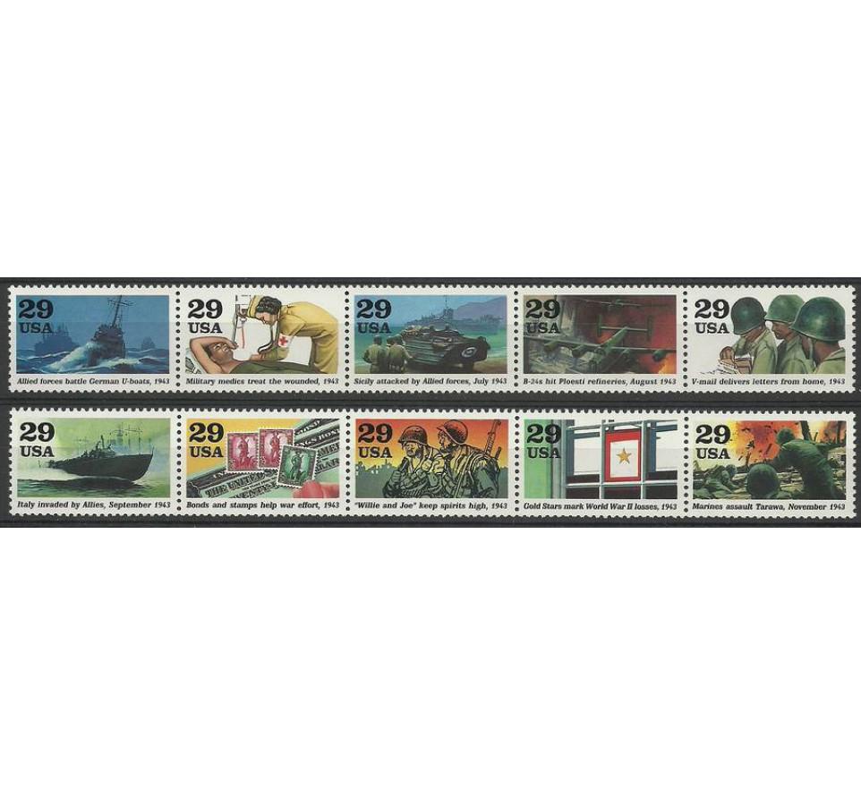 USA 1993 Mi 2365-2374 Czyste **