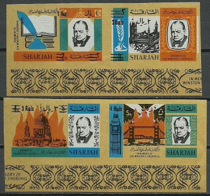 Znaczek Sharjah 1966 Mi 254-257B Czyste **