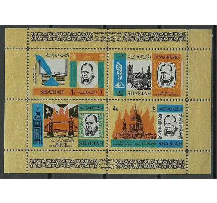 Znaczek Sharjah 1966 Mi bl 16a Czyste **