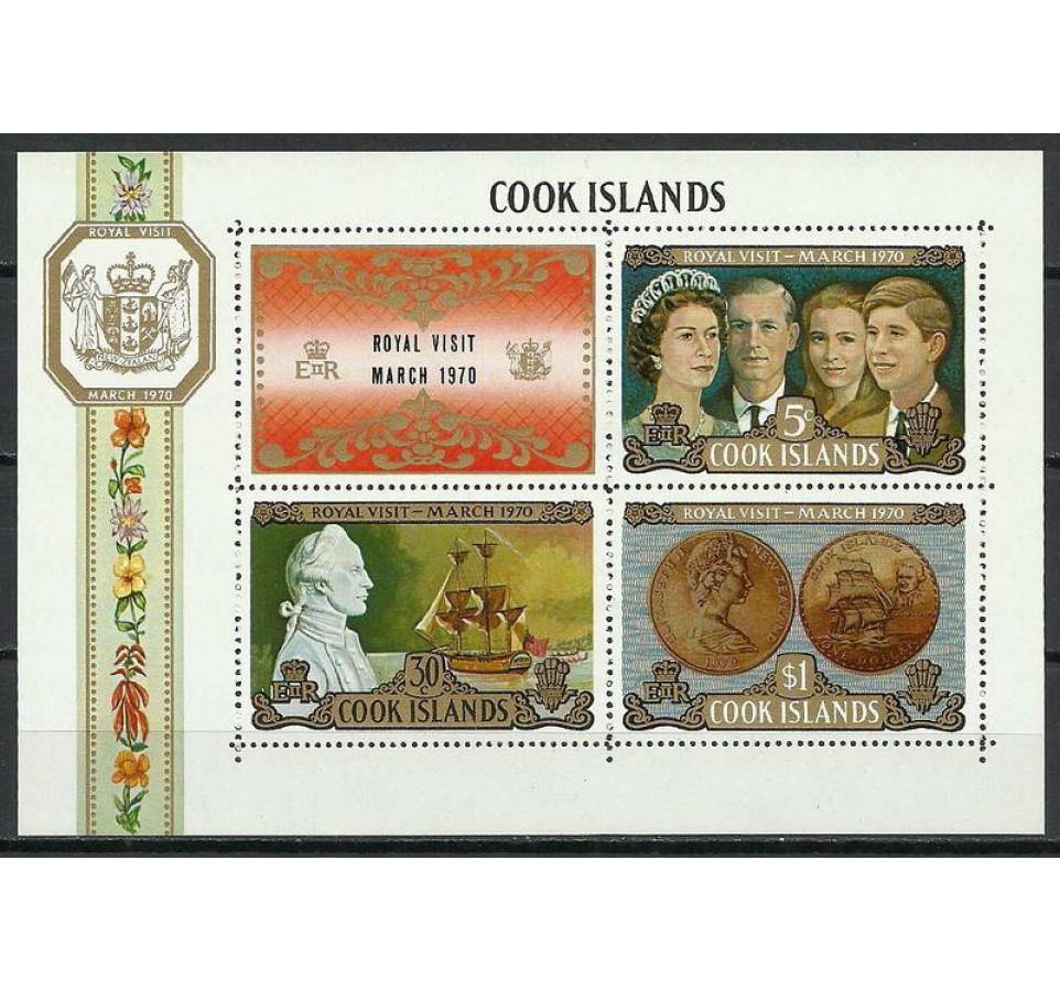 Wyspy Cooka 1970 Mi bl 7 Czyste **