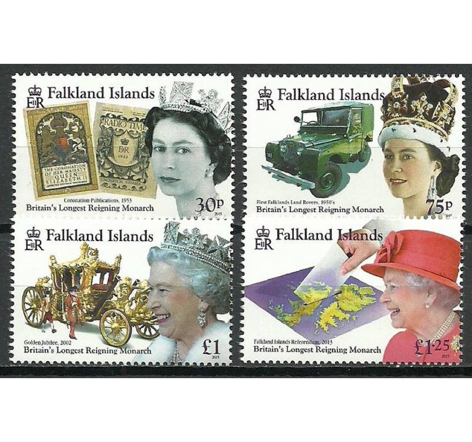Falklandy 2015 Mi 1282-1285 Czyste **