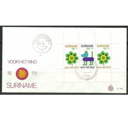 Znaczek Surinam 1973 Mi bl 13 FDC