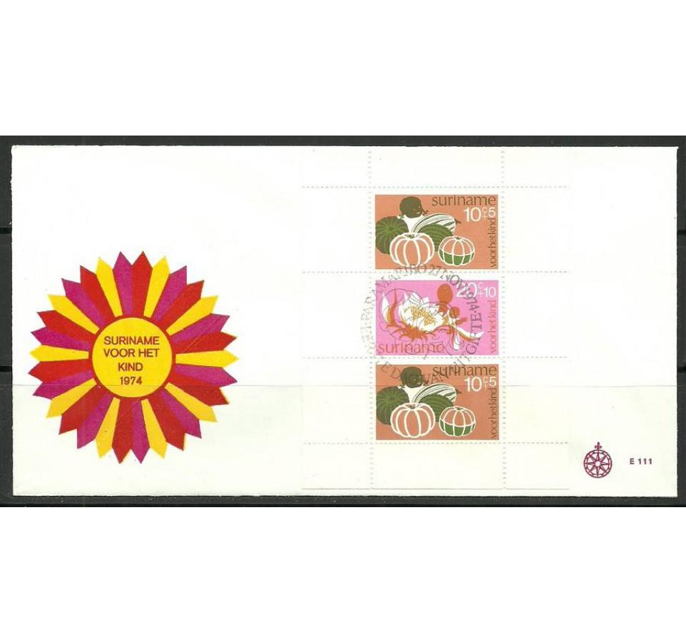 Surinam 1974 Mi bl 14 FDC