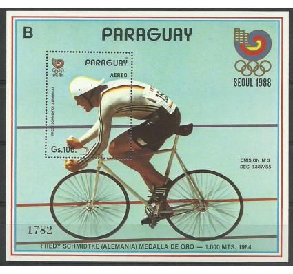 Znaczek Paragwaj 1989 Mi bl 456 Czyste **